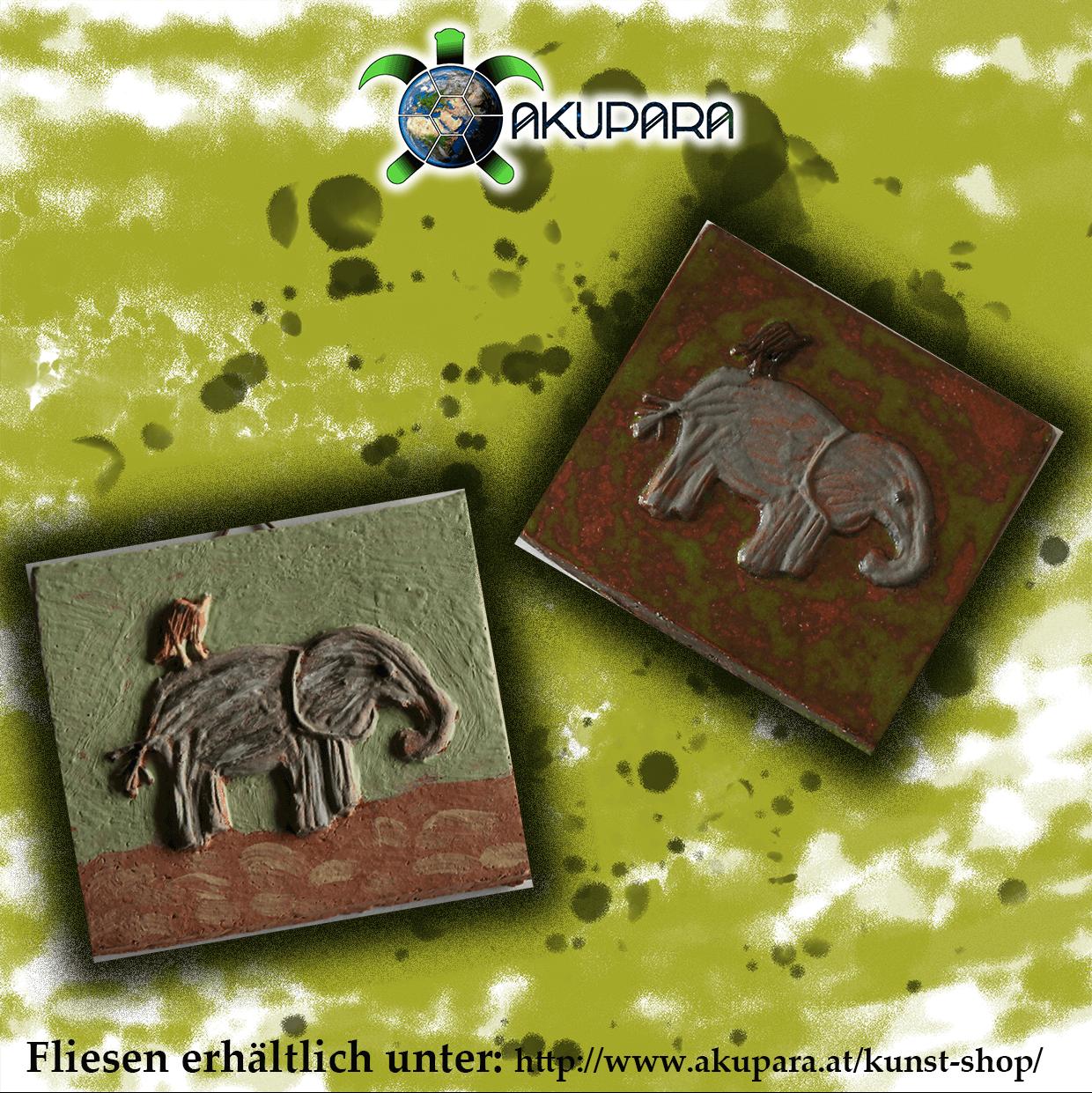 Fliesenmotiv Elefant