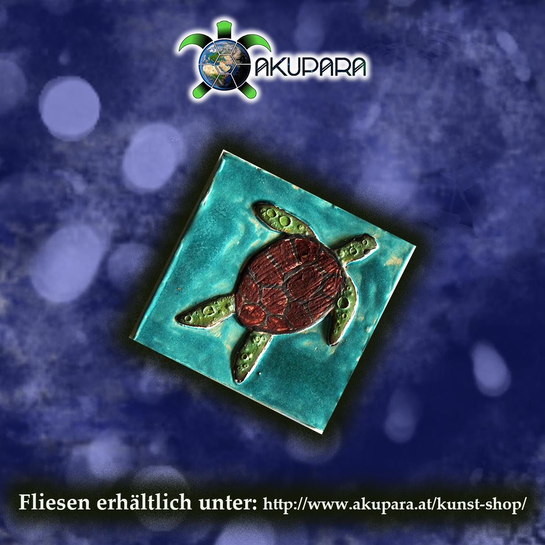Fliesenmotiv Meeresschildkröte