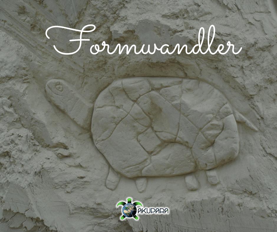 """Sandskulptur Schildkröte am Ozora Festival - Überschrift """"Formwandler"""""""